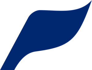 PIONEER blue flag with transparent background